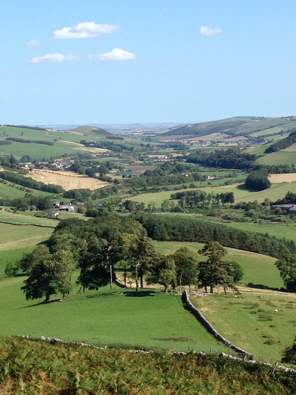 Town Yetholm and Kirk Yetholm from Wideopen Hill  - photo by Graeme Wallace
