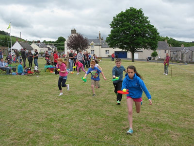 Race at Yetholm Family Fun Day.