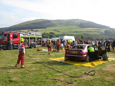 Fire Brigade at Yetholm Show.
