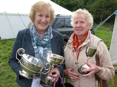 Prize-winners at Yetholm Show.